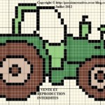 grille broderie tracteur