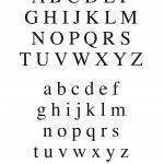 modèle broderie alphabet gratuit