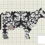 modèle broderie vache
