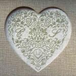 modèle coeur en broderie