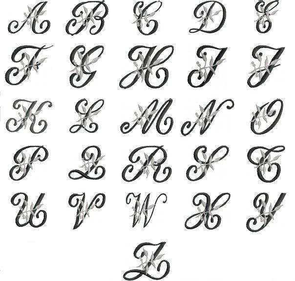 Mod le lettre en broderie - Apprendre a broder des lettres ...