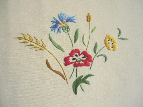 motif broderie fleur gratuit