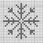 grille broderie flocon de neige