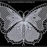 patron broderie papillon