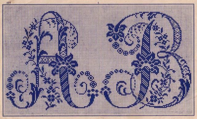patron monogramme broderie